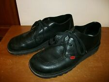 Kickers black leather lace up shoes size 8