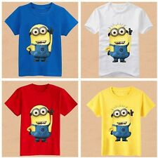 Boys Minions T-shirt Girls Despicable Me Tee Children Kids Summer Wear Apparel