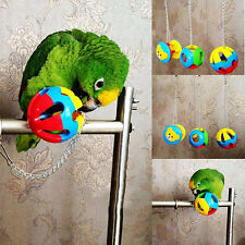 Pet Bird Plastic Chew Ball Chain Cage Toy for Parrot Cockatiel Parakeet Exotic