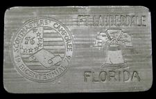 KB08116 GREAT 1976 BOY SCOUTS **SCOUTMASTERS CAMPOREE** FLORIDA BELT BUCKLE