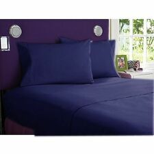 Hotel Bedding Collection-Duvet/Fitted/Flat 1000TC Egyptian Cotton @Navy Blue
