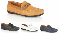 Mens Designer Leather Look Italian Loafers Casual Moccasin Driving Shoes Size