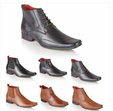 Mens Italian Style Leather Lined Formal Casual Chelsea Ankle Boots Shoes Size