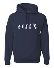Evolution of Man to Skydiver Hoodie Skydiving freefall w/Free Sticker! FREE S&H