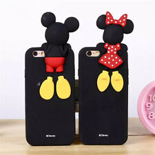 3D Cartoon Mickey Mouse Stitch Silicone Rubber Case Cover For iPhone 5 SE 6 Plus