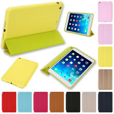 Ultra Slim Fit Smart Stand Cover Rubberized Back Case for iPad 5/Air1 Mini 1/2/3