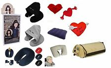 Micro Bead Fiber Inflatable Hoody Travel Pillow Comfy Neck Support Tablet Holder