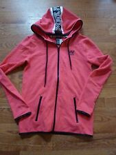 "VICTORIAS SECRET PINK TRACK JACKET ZIP POCKETS ""PINK"" FULL ZIP HOODIE NWT"