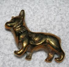 Brass Corgi Dog LOVELY DOG LOVER'S GIFT