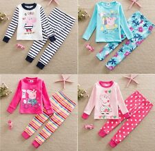 New Kids Girls Boys Toddler Peppa Pig Pajama Nightwear Outfit Set Autumn Clothes