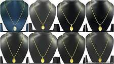 """Lockets with 18"""" Chain Necklace Gold Plated Traditional Indian Ethnic Jewelry"""