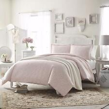 Gorgeous Cottage Chic Pink White Medallion Cotton Comforter Shams Bedding Set