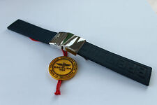 100% Genuine New Breitling Dark Blue Diver Pro 3 Rubber deployment Strap 22-20