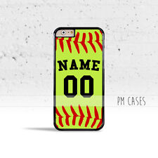 Softball Name Case Cover for Apple iPhone 6s 6 7 Plus SE 5 5s 5c 4 4s