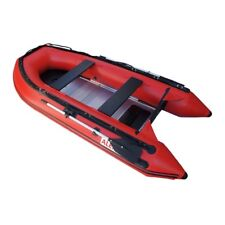 ALEKO Inflatable Boat With Aluminum Floor 4 Prs Fishing Raft 10.5 Ft Red