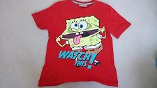 Sponge Bob Boys Themed T-Shirt - Size Age 10 to 11 Years - Excellent Condition