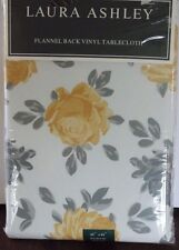 Laura Ashley Juliette Flannel Back Vinyl Tablecloth 4 sizes