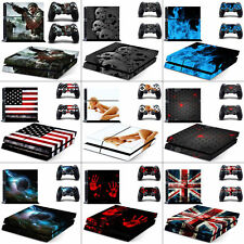 Vinyl Decal Protective Cover Skin Stickers for Sony PS4 Console+2 Controllers US
