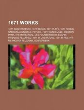 1671 Works: 1671 Architecture, 1671 Books, 1671 Plays, 1671 Poems, Samson Agonis