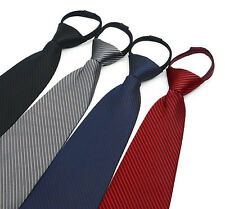 New Stripe Casual Slim Mens Skinny Narrow Neck Party Wedding Tie Necktie