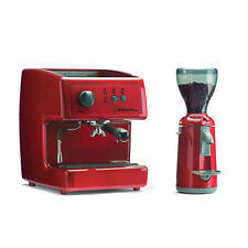 Nuova Simonelli Oscar (Red) + Grinta Grinder  (Red) Home / Office Coffee Machine