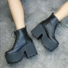 Womens Punk Gothic platform Super chunky Block heel Lolita shoes cosplay boots