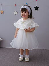 Elegant Lace Baptism Dress Bow Christening Gown Christening Dress with Cloak