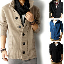 Fashion Men's Tops Coat Jumper Slim Korean Button Cardigan Sweater Casual Jacket
