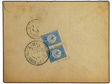 TURKEY. 1910. Registered cover to PARIS franked on rev