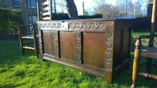 A Handsome C.Early 17th Antique Carved Oak Dowry Chest / Coffer