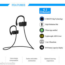 Bluetooth Sports Wireless Stereo Headphones Headset with Mic for iPhone Samsung