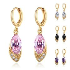 Marquise Swarovski Crystal Drop 18k Gold Filled Party Earrings Fashion Jewelry
