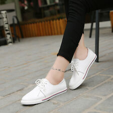 Casual Students Women Flat Genuine Leather Loafers Slip on Oxford Shoes Moccasin