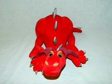"2005 Manhattan Toy 12"" Plush RED DRAGON Fantasy Stuffed toy Silver accents"