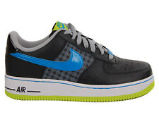 Kids Nike Air Force 1 (GS) Black Atomic Green Matte Silver 314192-075