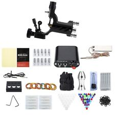 Complete Tattoo Kit 1 Rotary Machine Gun Inks Power Supply Disposable Needles