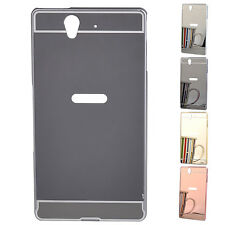 "Mirror Back Cover   Metal Aluminum Frame Back Case For 5"" Sony Xperia Z L36H"