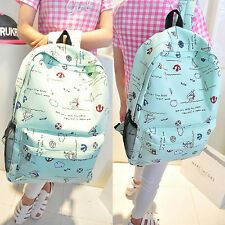 Fashion Women Canvas Travel Shoulder Bag Backpack School Bag Rucksack Bookbag