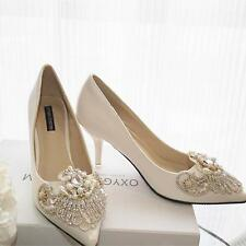 Luxury Crystal Bridal Shoes Rhinestone Beaded Wedding Shoes Vintage Bridal Heels