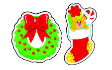 Christmas Cheer Smelly Stickers for Kids (Evergreen scented)