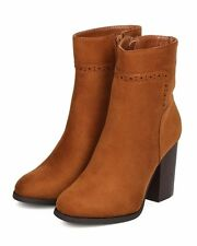 New Women Refresh Avenue-01 Faux Suede Round Toe Chunky Heel Ankle Boot