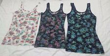 Brand New AERO Aeropostale Women Ladies Floral Lace Tank Top USA Girl Fashion