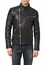 New Men Motorcycle Leather Biker Party Genuine Lambskin Jacket = LF785