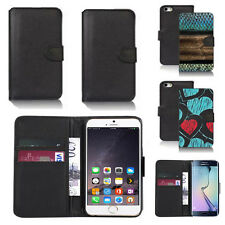 black pu leather wallet case cover for many mobiles design ref q586