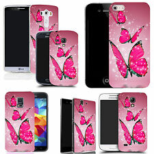 hard case cover for variety of mobiles - floating butterflies