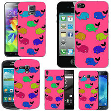 gel case cover for many mobiles - blush colourful funky wales silicone