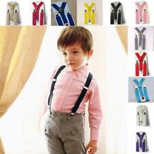 Children Adjustable Baby Girls Boys Clip-on Suspenders Elastic Y-Shape Braces