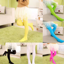 Girls Kids Candy Colors Footed Stockings Leggings Ballet Dance Tight-Pants HR