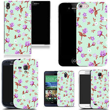 gel case cover for many mobiles  - pretty floriated silicone