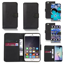 pu leather wallet case cover for apple iphone models design ref q35